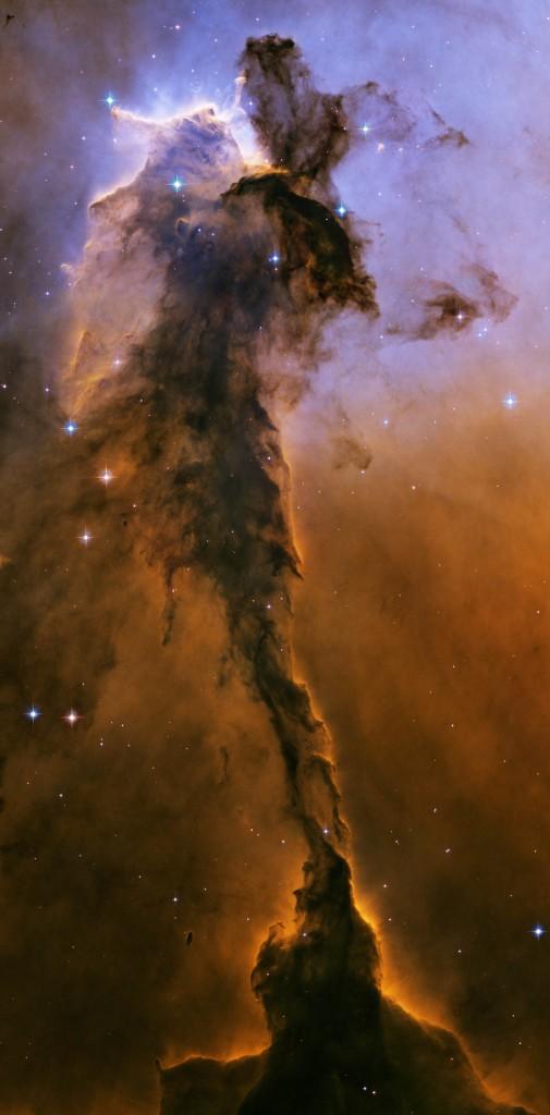 Stellar spire eagle nebula