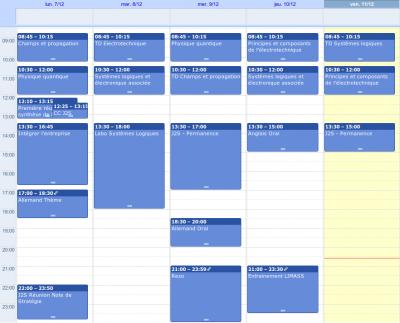 Agenda semaine 50